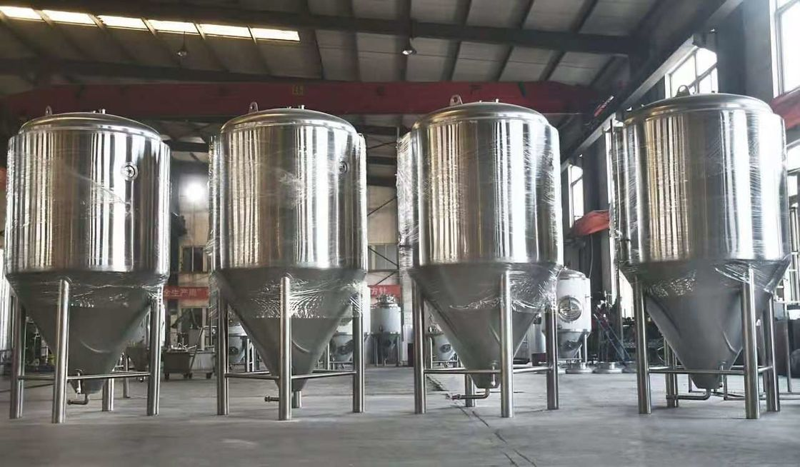SS304 Beer Fermenter 500L Double Skin Pressure Tank supplier